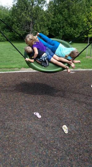 Forget the anxiety of nearly upside down children and embrace the laughters.