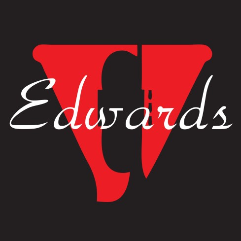 Edwards Logo 4x4 Black