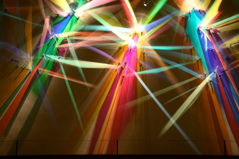"""First Symphony"" a light painting in Sursa Hall lobby by Stephen Knapp"