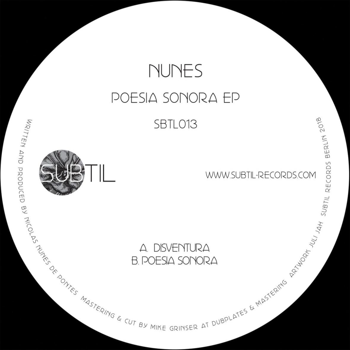 Premiere: B – Nunes – Poesia Sonora [SBTL013]