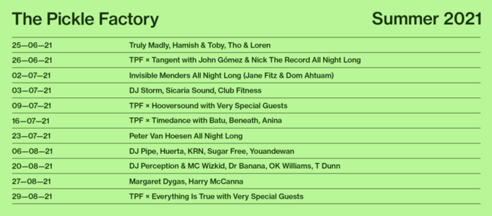 the pickle factory summer lineup