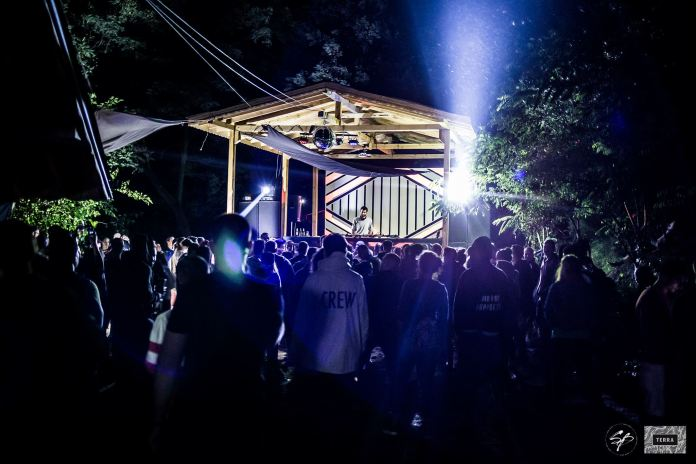 Festival In The Nature stage at night