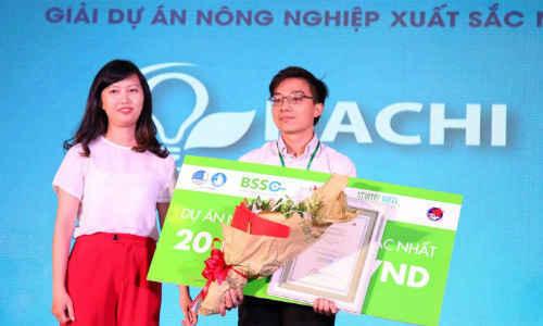 nhận giải Dự án nông nghiệp xuất sắc trong cuộc thi Startup Wheel 2016