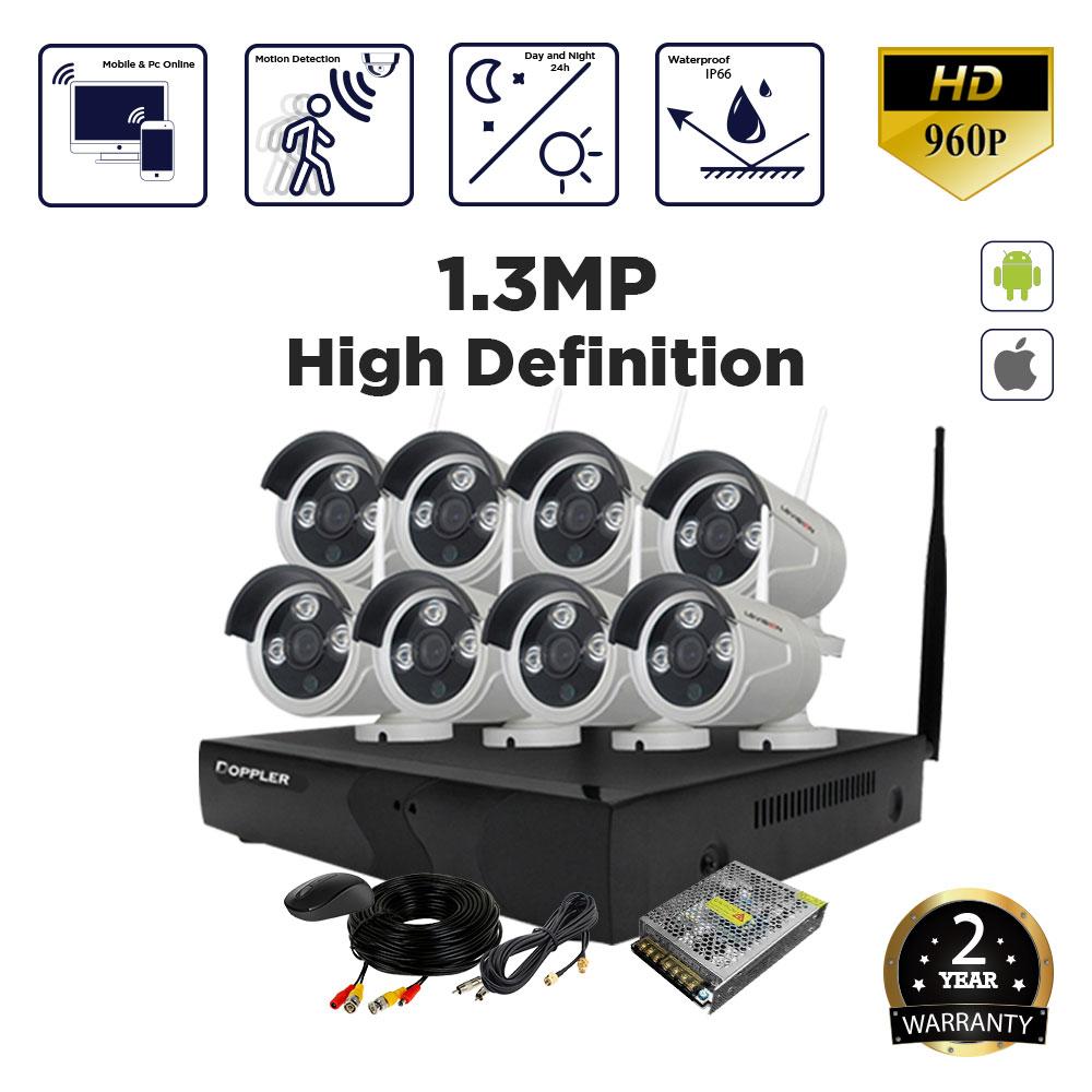 Doppler 8 channel 1 3MP NVR CCTV Budget Kit- without Installation -  tronix lk