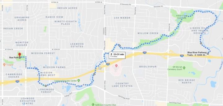 May Hike – Blue River/Indian Creek Trail – Troop118