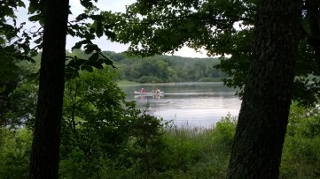 Return From Tuesday Canoe Overnight - View From Mr Hufford's Tent