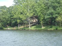 View of Tree Houses From Nimm's Lake
