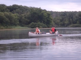 Return From Tuesday Canoe Overnight - Chris and Steven