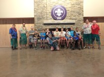 Troop 501 in Dining Hall Before Wednesday Beach Party