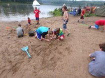 Wednesday Beach Party - Sandcastle Building Competition - James Supervising the Labor