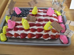 These bakers couldn't wait until Easter to break out the marshmallow Peeps to pay homage to A People's History of the United States by Howard Zinn. Photo: Hal B. Klein.