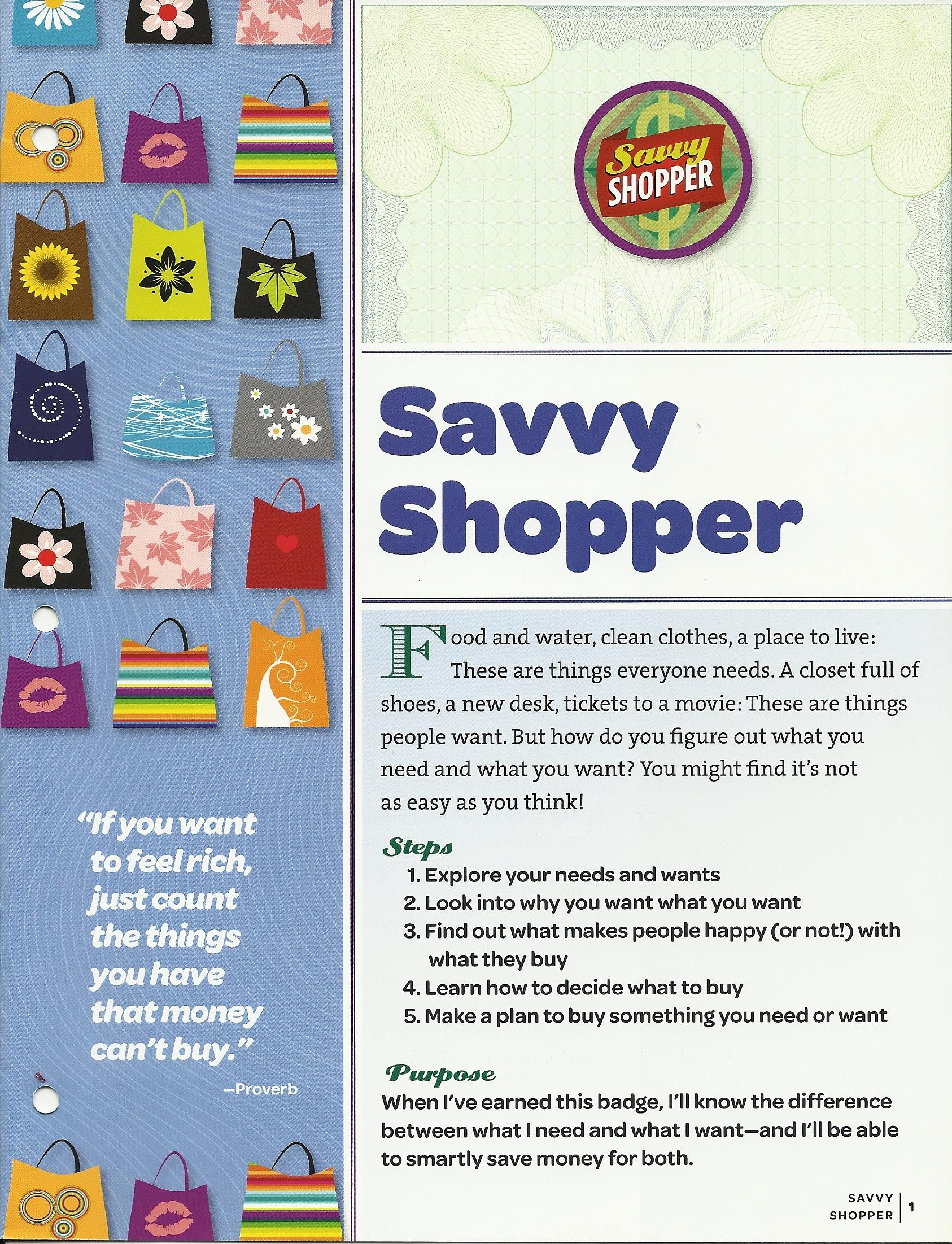 Savvy Shopper