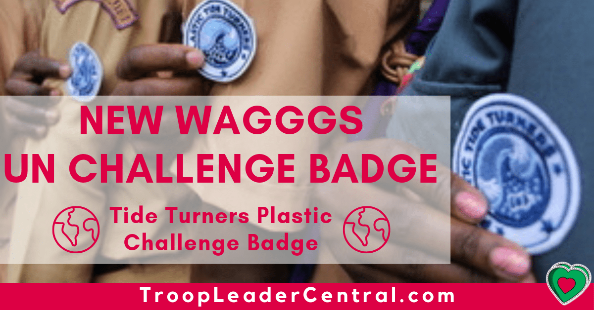 World Association of Girl Scouts and Girl Guides UN Challenge Badge - Tide Turners Plastic Challenge Badge