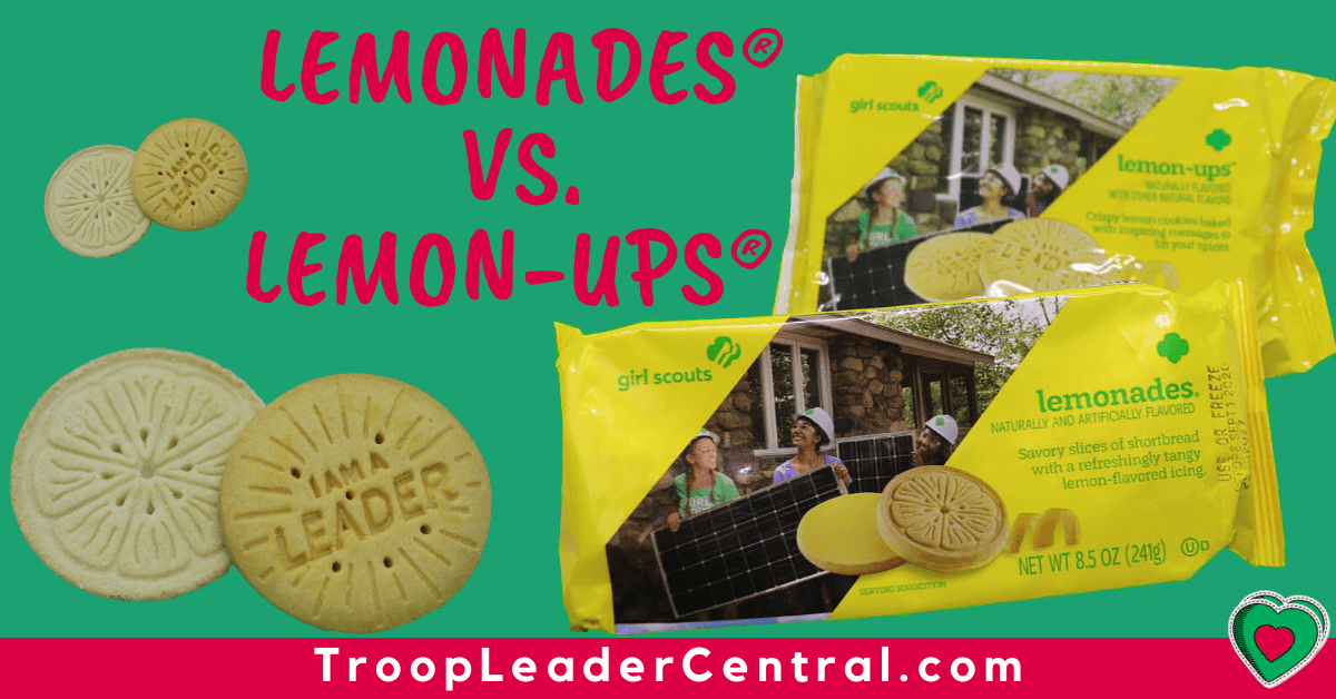 Girl Scout Cookies Lemonades vs. Lemon-Ups
