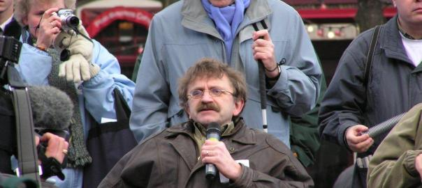 Jan bij Valys protesten