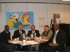 Overleg vertegenwoordigers Santha martha Curacao met voorzitter CG Raad
