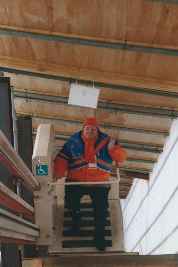 Staatssecretrais Erica Terpstra VVD  tijdens Winterspelen Nagano (foto Jan Troost)