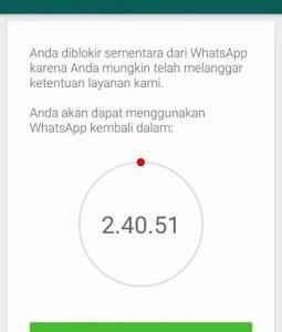 Tips Ampuh Atasi Whatsapp Diblokir Sementara
