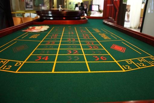 tapis de jeu de la roulette