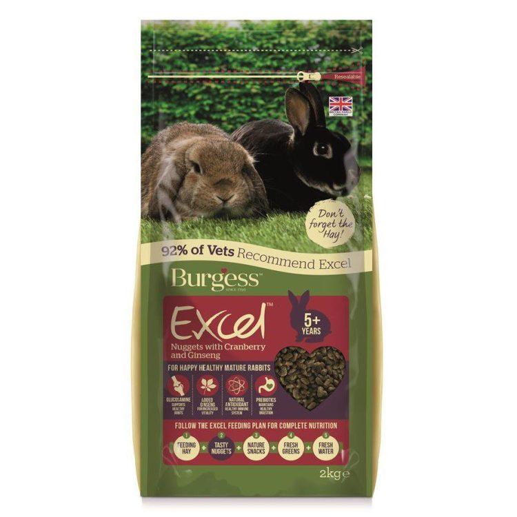 Burgess Excel kaninfòr pellets voksen