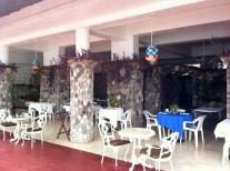 The open air restaurant at Silver Seas