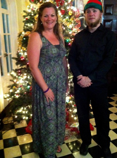 All dressed up Christmas night - just because