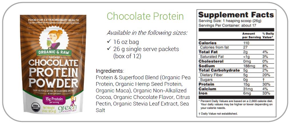 Chocolate Raw Vegan Protein Powder