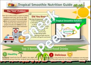 Tropical Smoothie Nutrition Superfoods Halfsie