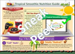 Tropical Smoothie Nutrition Trace Minerals Halfsie
