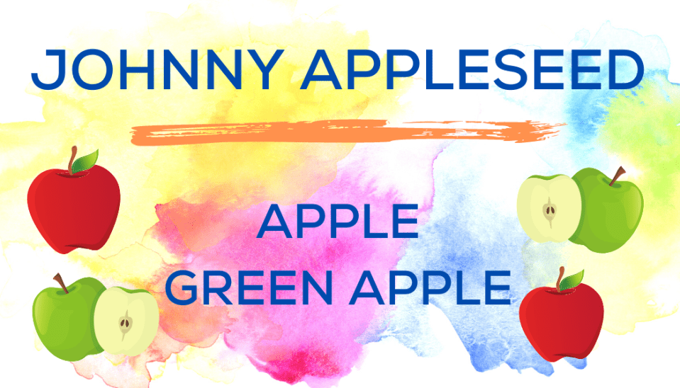 Shaved Ice Flavors-Tropical Sno Peoria-JOHNNY APPLESEED: sweet apple, tart green apple