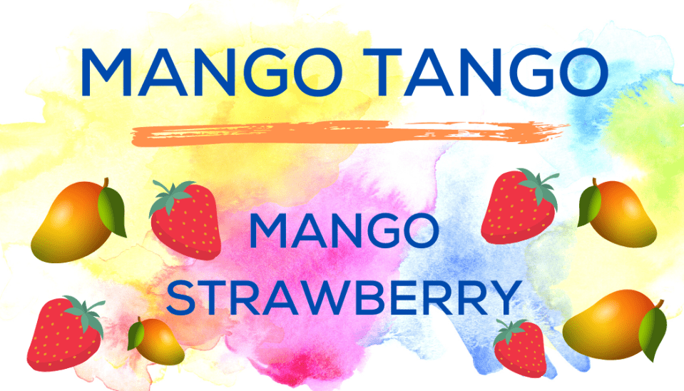 Shaved Ice Flavors-Tropical Sno Peoria-MANGO TANGO- magnificent mango, summery strawberry,