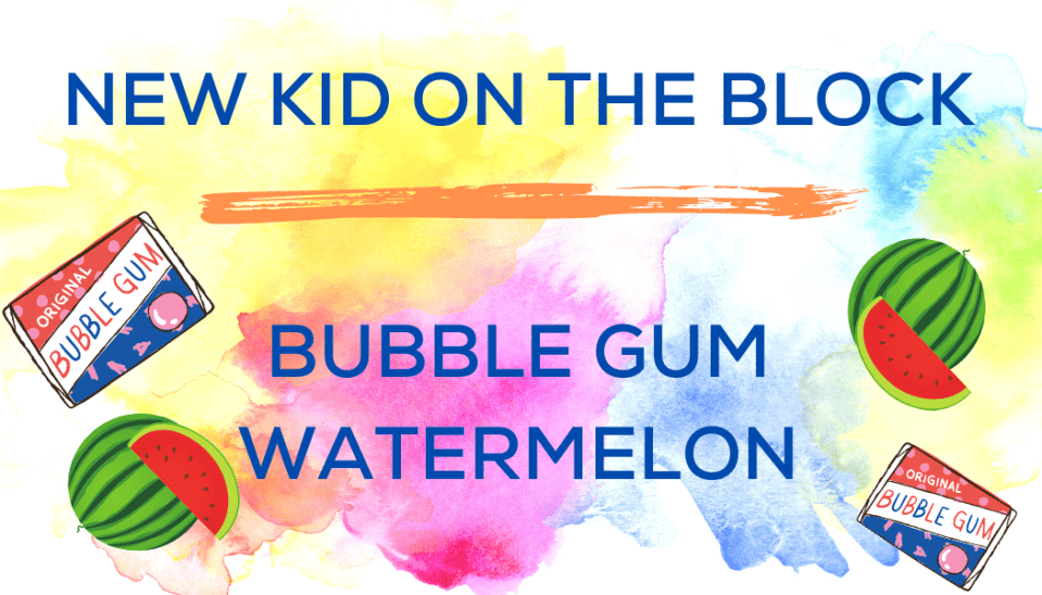 Shaved Ice Flavors-Tropical Sno Peoria-NEW KID ON THE BLOCK- playful bubble gum and fresh watermelon.