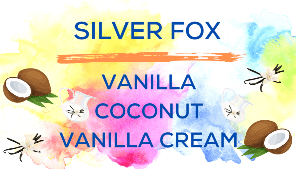 Shaved Ice Flavors-Tropical Sno Peoria-SILVER FOX-, vanilla, coconut, vanilla cream