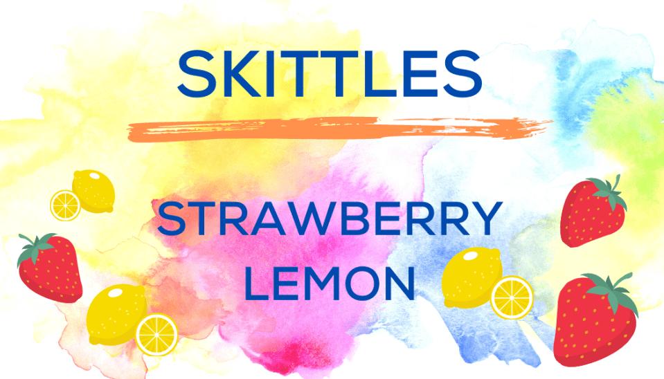 Shaved Ice Flavors-Tropical Sno Peoria-SKITTLES- summery strawberry, tart lemon