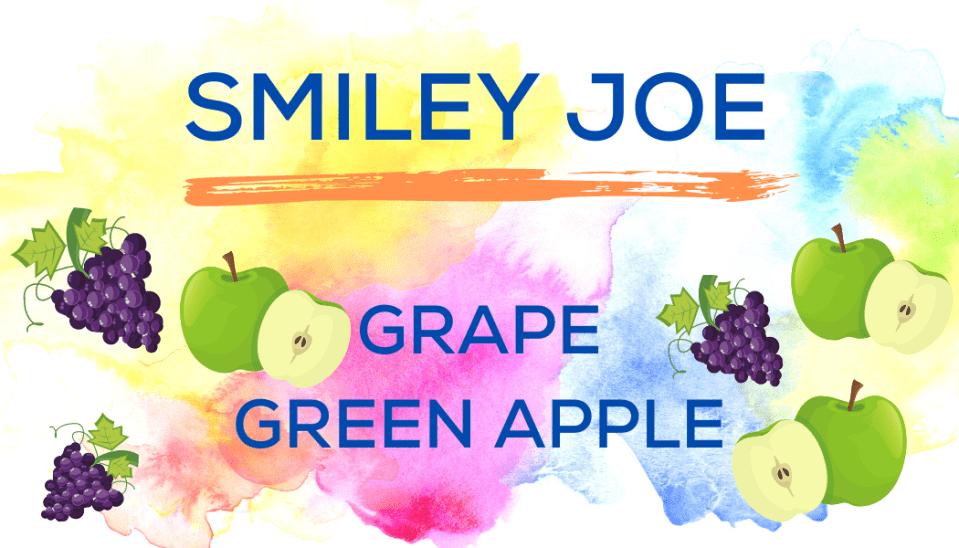 Shaved Ice Flavors-Tropical Sno Peoria-SMILEY JOE-juicy grape, bright green apple