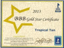 2013 BBB Gold Star Certificate