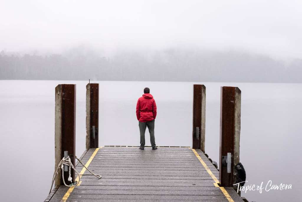 Man standing at Lake St Clair