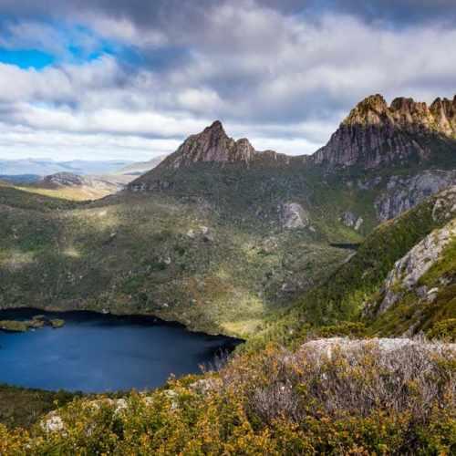 Cradle Mountain on the Overland Track in Tasmania, Australia