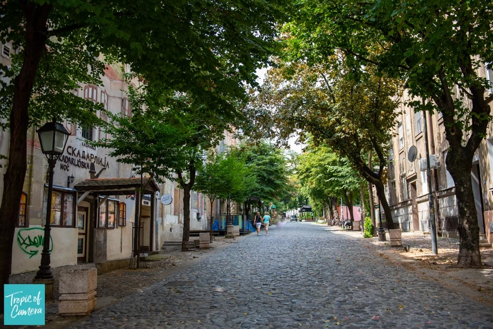The Bohemian Street in Belgrade, Serbia