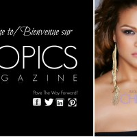 Plus-Size Model and Actress Christina Mendez covers Tropics Magazine (August / Aout) issue!