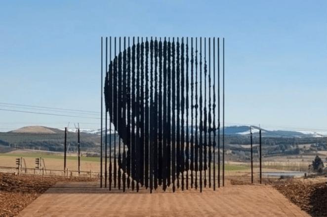 Howick sculpture of Mandela
