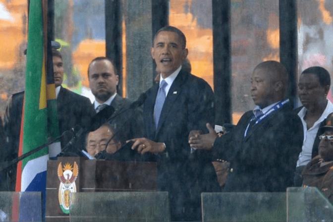 Obama at Mandela funeral