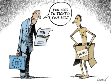 austerity cartoon EU greece