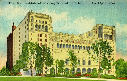 Bible Institute of Los Angeles (Biola). Courtesy of the Department of Archives and Special Collections, William H. Hannon Library, Loyola Marymount University.