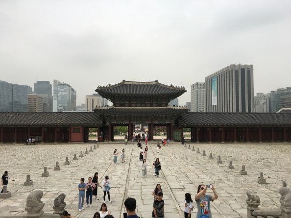 Looking out onto modern Seoul from its ancient past