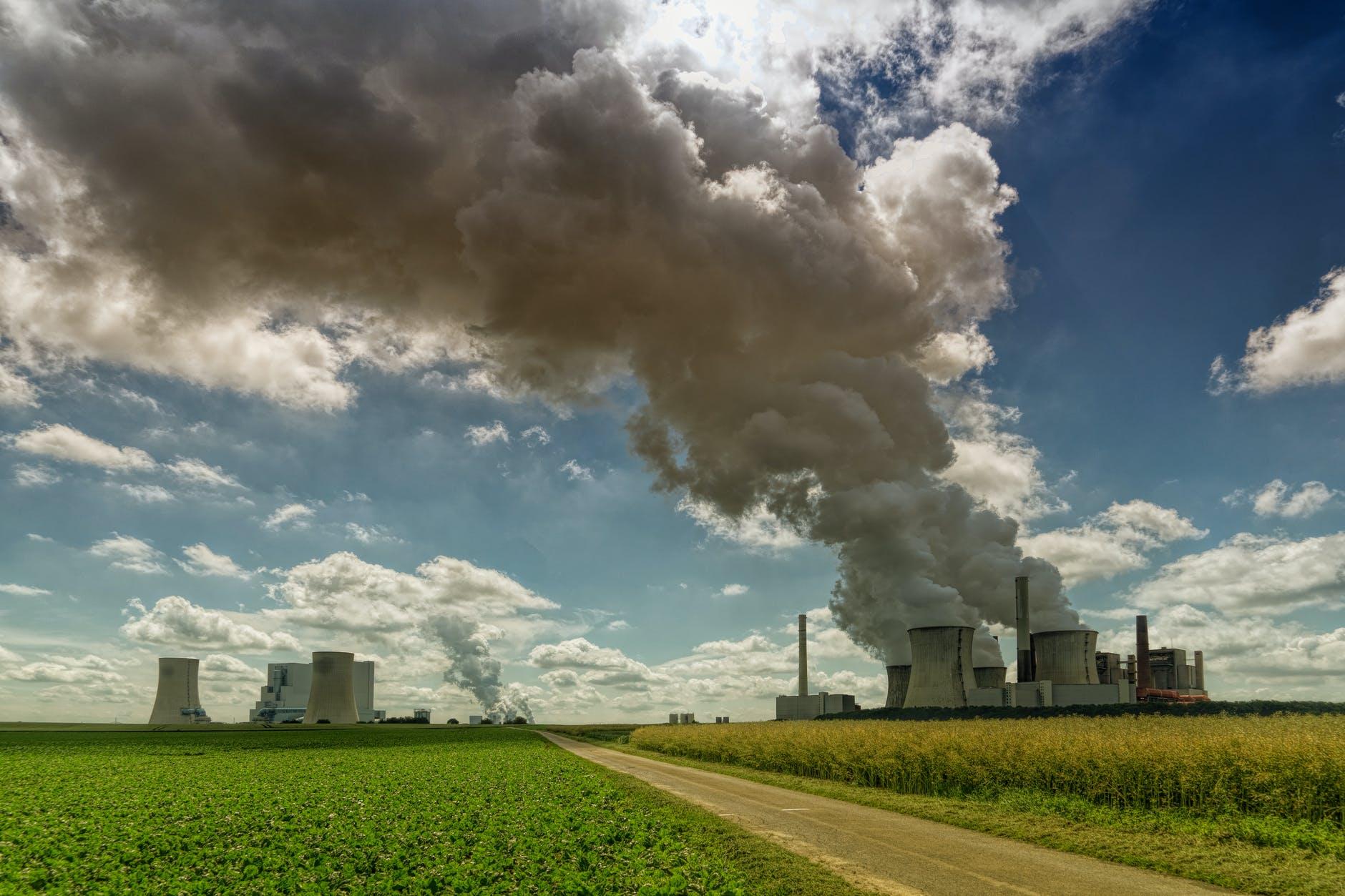 industrial machine near crops