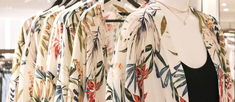 fast fashion clothing rack