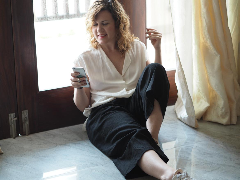 Black Linen Trousers