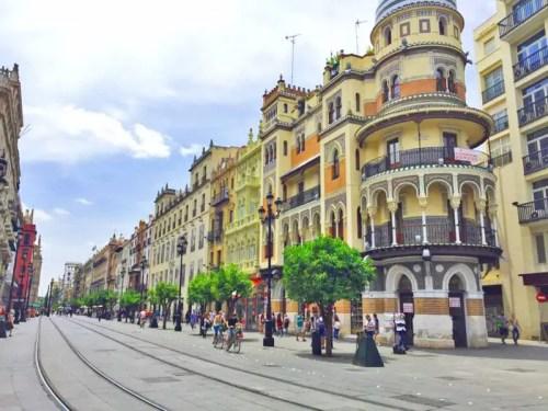 city center seville spain