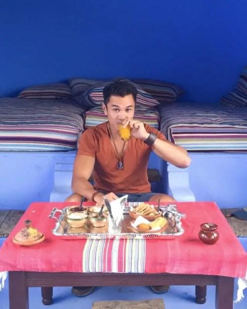 moroccan breakfast chefchaouen morocco